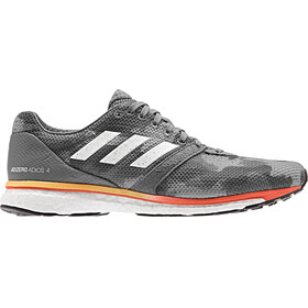 adidas Adizero Adios 4 Kengät Miehet, grey four/footwear white/solar orange